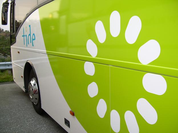 Norska Tide, med trafik i Norge och Danmark, har beställt IT-system till 1600 bussar. Foto: Gunnarbu/Wikimedia Commons.