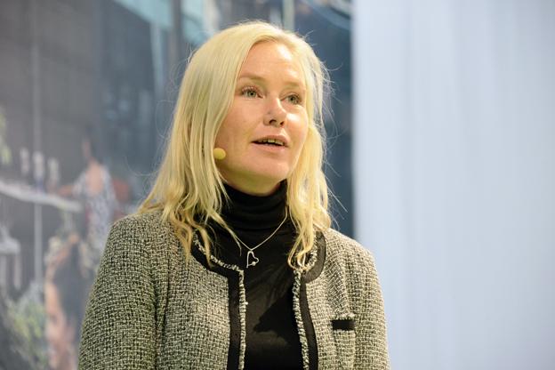 Infrastrukturminister Anna Johasson(S) var entusiastisk över Electricityprojektet i Göteborg. Foto: Ulo Maasing.