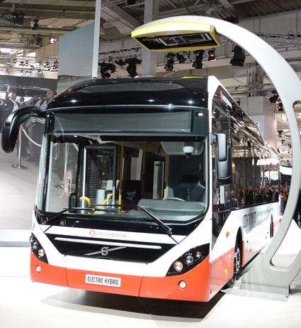 En av nyheterna från Volvo Bussar under det tredje kvartalet var lanseringen av Volvo 7900 Electric Hybrid. Foto: Ulo Maasing.