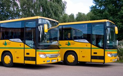 Nerläggning hotar värmländska bussbolag. Bild: Värmlandstrafik.
