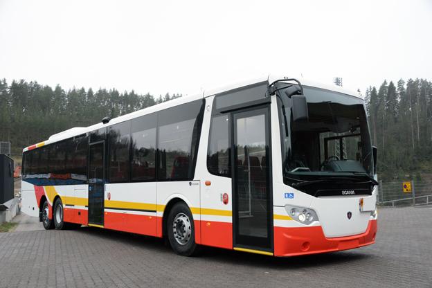 Nu kommer lågentréversionen av Scania OmniExpress även till Sverige. Foto: Ulo MAasing.