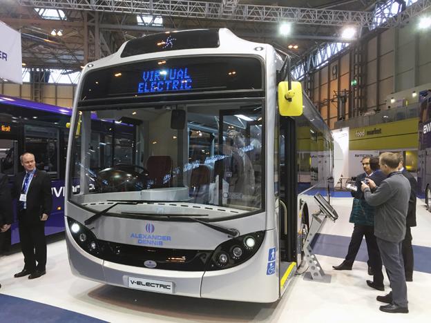 """Virtual Electric, """"nästan elektrisk"""". Brittiska ADL lanserar nu sin motsvarighet till Volvo 7900 Electric Hybrid. Foto: Ulo Maasing."""