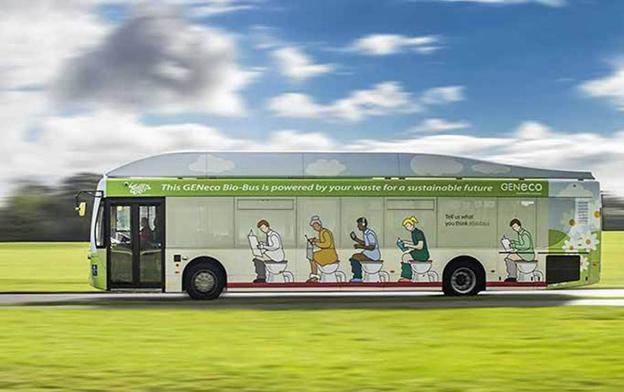 Här kommer en riktig bajsbuss! Bild: Bath Bus Company.