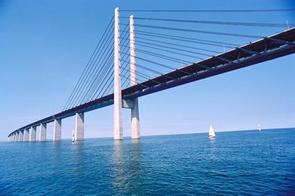 Busstrafiken över Öresundsbron har ökat kraftigt i år. Foto: Öresundsbron.