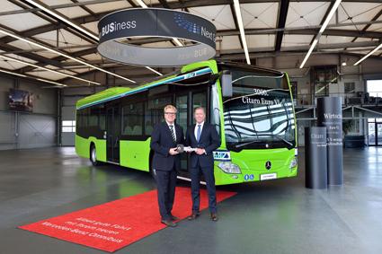 Mercedes-Benz har nu levererat den 3000:e Citaron med Euro 6-motor. Foto: Daimler Buses.
