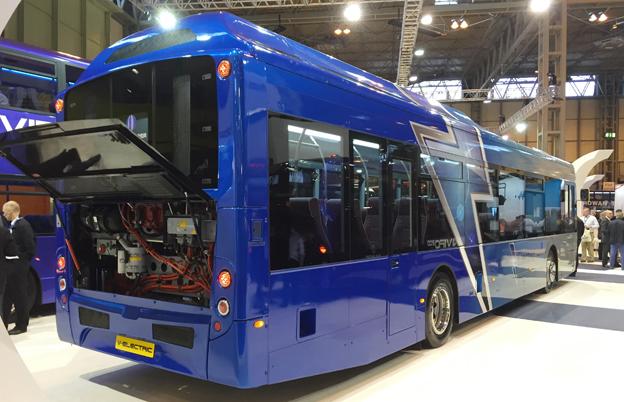 Nyhet på Euro Bus Expo: Alexander Dennis Enviro 350VE (Virtual Electric). Foto: Ulo Maasing.