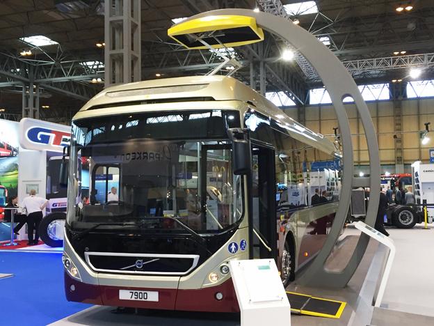 Volvo satsar hårt på att marknadsföra sin 7900 Electric Hybrid. Här i en lackering för Lothian Buses i Edinburgh.