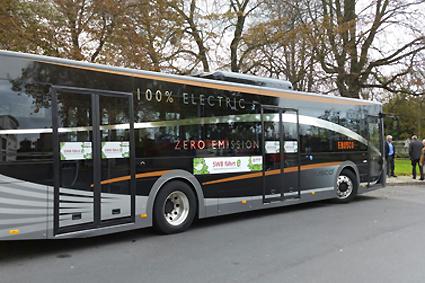 Den elbuss som nu testas i ett antal städer i södra Sverige är en Ebusco 2.0. Foto: Ebusco.