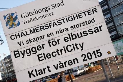 Nu är arbetet i full gång i Göteborg inför ElectriCityprojektet. Foto: Ulo Maasing.
