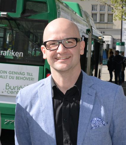 Joakim Agartson, chef för Affär & Marknad på Skånetrafiken. Foto: Ulo Maasing.