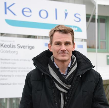 Keolis Sveriges vd Magnus Åkerhielm. Foto: Ulo Maasing.