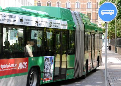 Befarade sprickor har gjort att ett antal ledbussar i Malmö har tagits ur trafik. Arkivbild: Ulo MAasing.