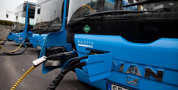 MAN koncentrerar tillverkningen av stadsbussar. Bilden visar MAN-bussar i Keolis depå i Göteborg. Foto: MAN.