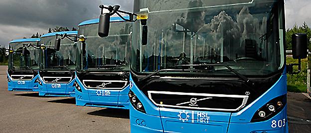 Nobinas bussar i Helsingfors blir fler. Foto: Nobina.