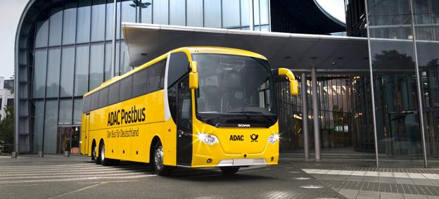 Tyska expressbussföretaget Postbus har beställt ytterligare 60 Scania OmniExpress. Foto: Scania.