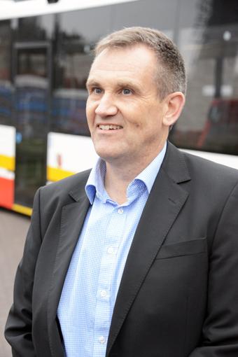 Rutger Hörndahl, chef för bussmarknad vid Scania-Bilar Sverige. Foto: Ulo Maasing.