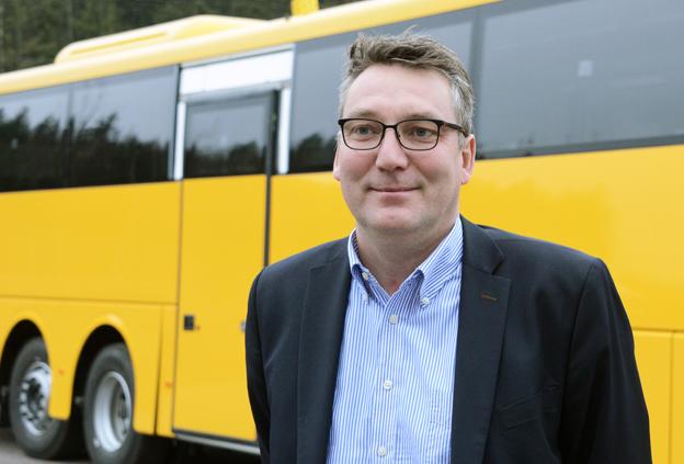 Gustav Tham är vd för Scanias finska dotterbolag SOE Busproduction Finland OY. Foto: Ulo Maasing.