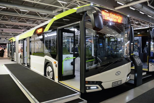 Nya Solaris Urbino 18 hade svensk premiär på Persontrafik. Foto: Ulo Maasing.