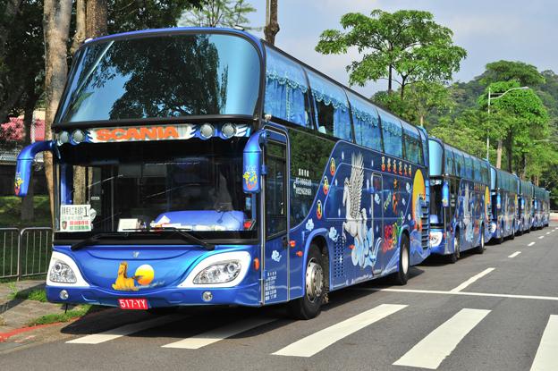Scania har fått ytterligare en stor order på 200 busschasier till Taiwan. Karosseringen görs av taiwanesiska Boshun. Foto: Scania.