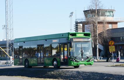 Fredrik Forsell, kollektivtrafikchef i Umeå menar att både den automatiska avläsningen och Umeås satsning på elbussar bidrar till att stärka kollektivtrafikens varumärke. Foto: Ulo Maasing.