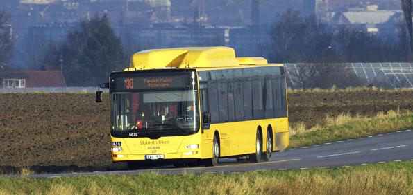Ukrainakrisen kan leda till problem med gasleveranser till busstrafik. Foto: Kasper Dudzik.