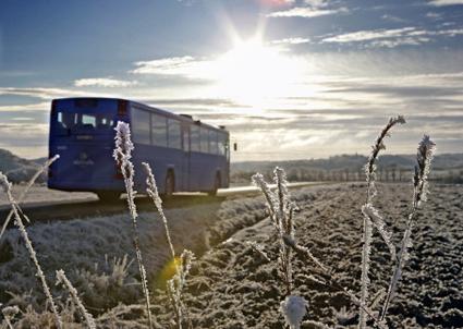 Västtrafik satsar på bussar i beredskap om tågtrafiken skulle strula. Foto: Västtrafik.