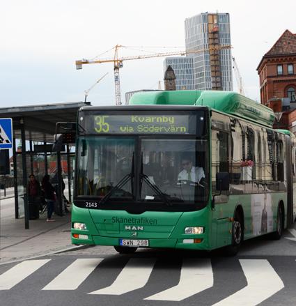 Skånetrafiken arbetar för införande av betalkort även på stadsbussarna. Foto: Ulo Maasing.