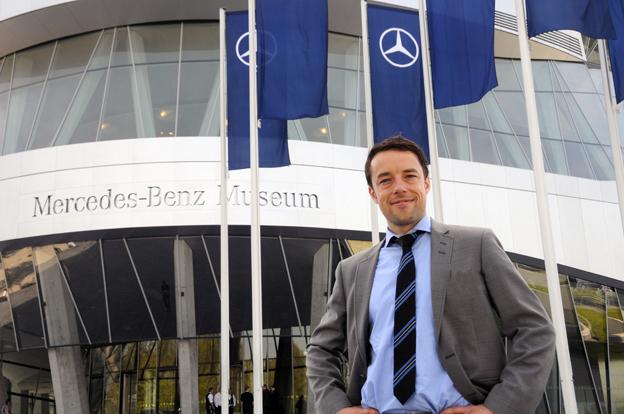 Håkan Jönsson, försäljningschef för Mercedes-Benz bussar, kan notera nytt försäljningsrekord för Mercedesbussar i Sverige. Foto: Ulo Maasing.