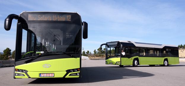 Nya Solaris Urbino – nu har Solaris sålt de första helt elektriska bussarna av sin nya stadsbuss. Foto: Ulo Maasing.