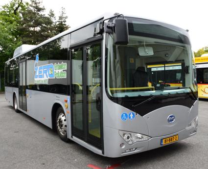 BYD:s batteridrivna stadsbuss K9. Foto: Ulo Maasing.