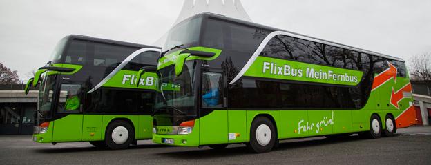 Två stora, tyska expressbussföretag, FlixBus och MeinFernbus går samman och satsar på expansion i Europa. Foto: MeinFernbus/FlixBus.