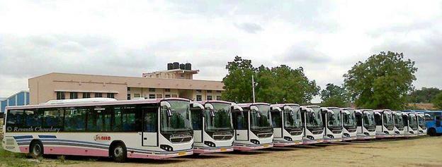 Volvo Bussar har levererat 80 stadsbussar till Hyderabad, Indien. Foto: Volvo.