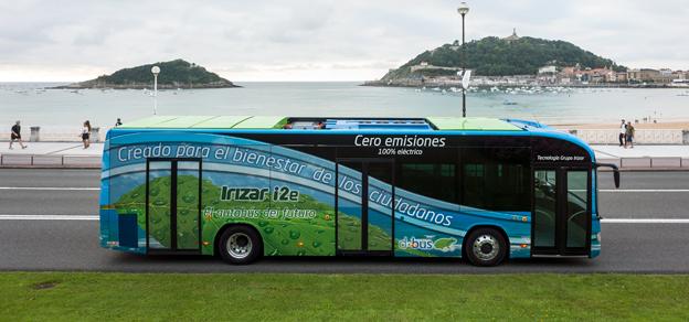 Irizars elbuss i2e har fått pris som årets buss i Spanien. Foto: Irizar.