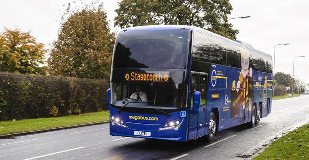 Megbus.com tar nu upp konkurrensen med de tyska expressbussföretagen. Foto: Stagecoach.