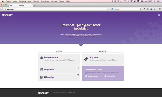 Resrobot.se öppnar nu även för biljettförsäljning.
