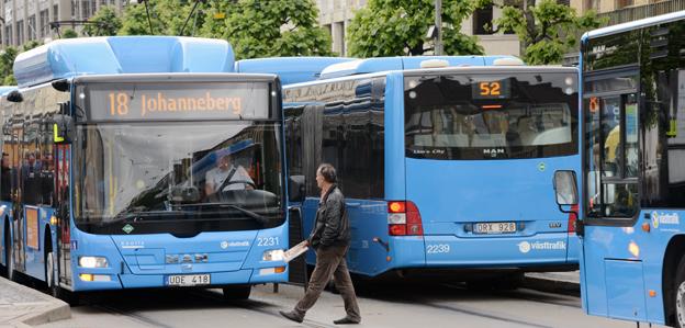 Resandet med bussar och tåg i Västra Götaland har slutat öka. Foto: Ulo Maasing.