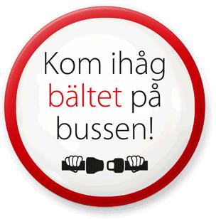 Trots att det i 15 år har varit lagkrav på bältesanvändning i bussar använder bara två tredjedelar av expressbussresenärerna säkerhetsbälte. Nu startar Swebus en kampanj för ökad bältesanvändning.