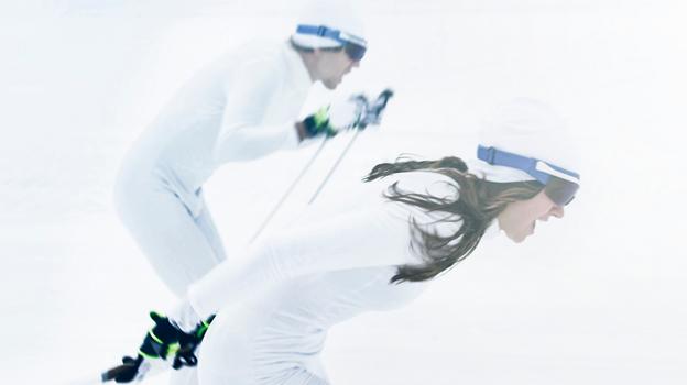 Under skid-VM bjuds falubor och VM-besökare på gratis elbussresor. Foto: Falun 2015.