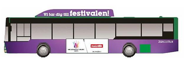 Lila är färgen på Skånetrafikens och Nobinas särskilda Melodibuss.