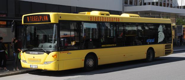 Östersund är på väg att överge krav på biogasdrivna bussar i nästa trafikupphandling. Foto: Ulo MAasing.