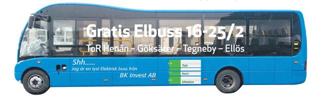 På måndag är det premiär för Orusts gratislinje för elbussar. Där ska bussar från olika tillverkare köra under senvintern/våren. Först ut är två veckor med en Optare elbuss.
