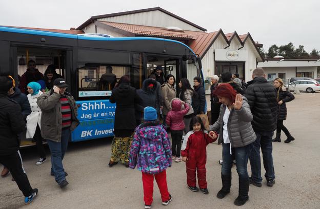 Elbusslinjen på Orust blev populär premiärdagen.