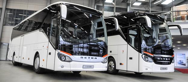 Setras TopClss 500 och Comfort Class 500 har tilldelats ett ansett tyskt designpris. Foto: Daimler Buses.
