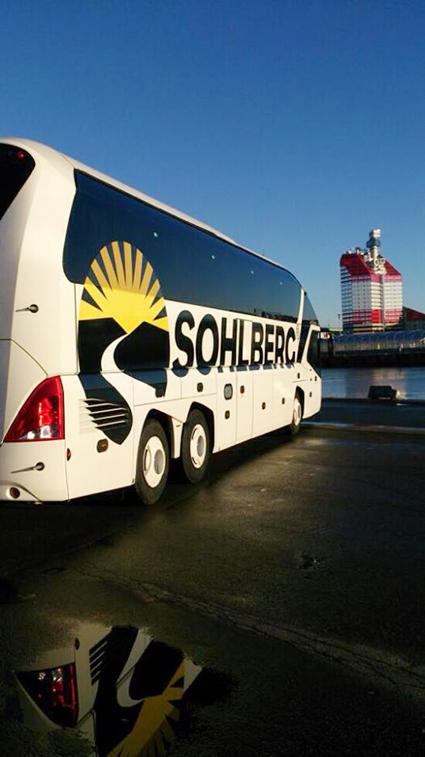 Sohlberg Buss satsar på ökad säkerhet ombord. Foto: Sohlberg Buss.