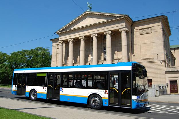Solaris har fått en stororder från Ostrava, Tjeckien. I ordern på 105 bussar ingår 90 tlovmters Urbino gasbussar. Foto: Solaris.