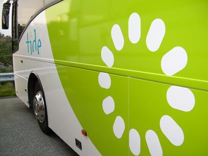 Tide, Norges näst största bussoperatör, har vänt från förlust till vinst. Foto: Gunnarbu/Wikimedia Commons.