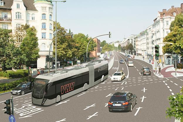 Van Hool har fått den första beställningen på sin modell Exgui.City från VHH i Hamburg. Bild: Van Hool.