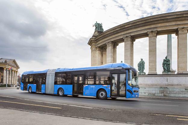 Volvo har sålt 28 hybridledbussar till Budapest i den största ordern hittills på modellen. Foto: Volvo Bussar.