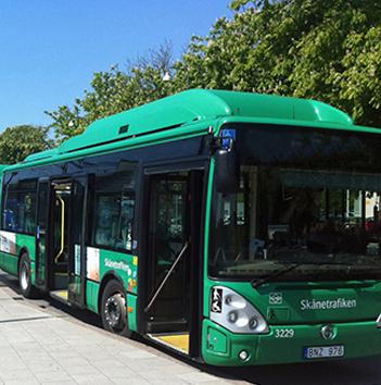 Stadsbussarna i Ystad får högst betyg av all stadsbusstrafik i Skåne. Foto: Ystads kommun.