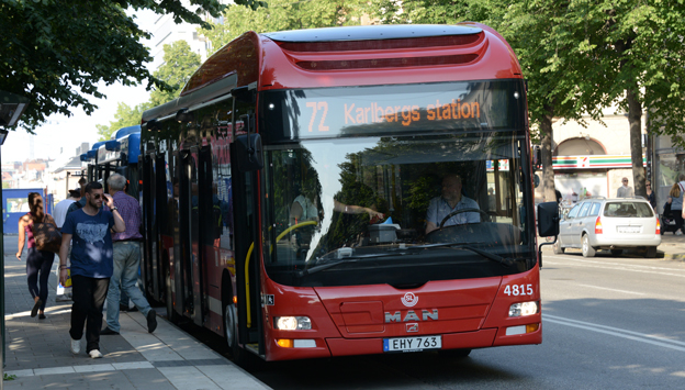 År 2013 fuskades det med SMS-biljetter för 35 miljoner på bussarna i SL-trafiken. Foto: Ulo Maasing.